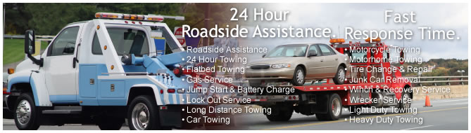 24 hour road side assistance. Fast response time.