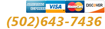 Major Credit Cards Accepted. Call us:(502) 716-6283